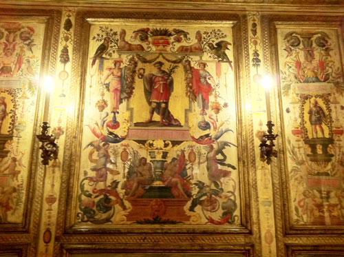 La Bibliothèque de l'Arsenal - Panneaux peints de la chambre de la maréchale de La Meilleraye