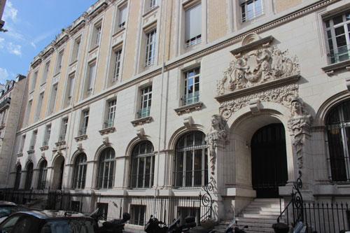 Les bâtiments de la Caisse nationale d'Epargne construits en 1886 - Façade sur la rue Saint-Romain