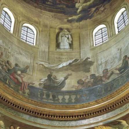 L'église Saint-Joseph des Carmes : les fresques de la coupole