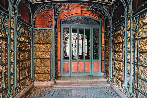 Le Castel Beranger : le hall d'entrée