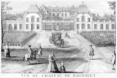 Le château de Bagnolet au XVIIIe siècle