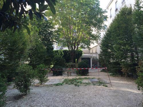 La cité Napoléon - Le jardin