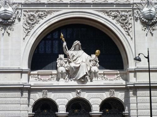 Le Comptoir National d'Escompte de Paris - Détail de la façade