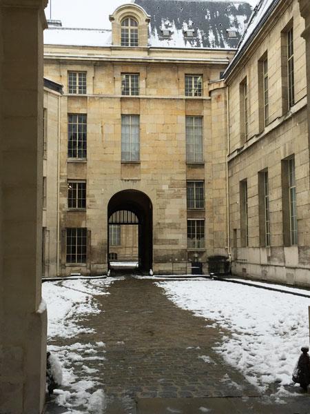 la cour de Clisson, vestige de l'ancien hôtel de Clisson