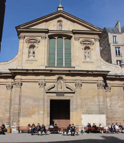 L'église Saint-Joseph des Carmes - La façade