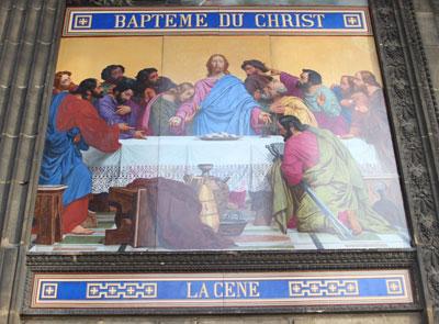 Eglise Saint-Vincent de Paul : panneau polychrome