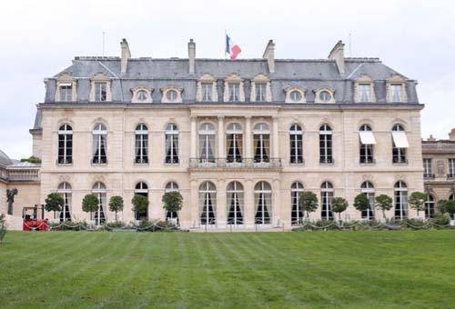 Le palais de l'Elysée - Façade sur jardin