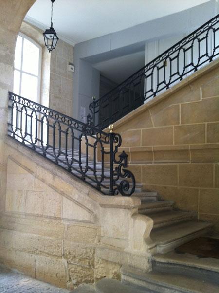 L'hôtel de Villeroy : l'escalier en pierre