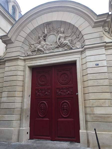 L'hôtel Amelot de Bisseul : le portail