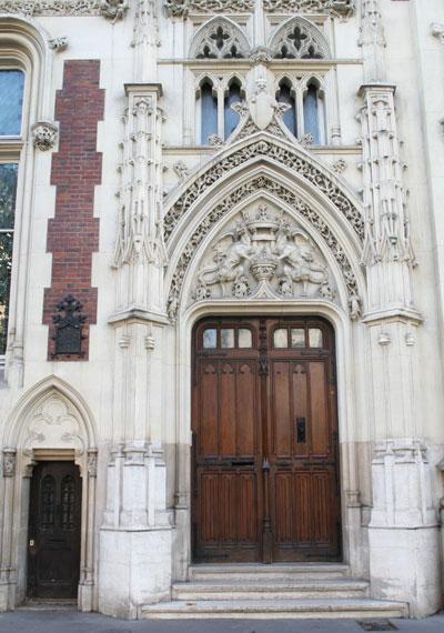 Hôtel particulier, boulevard Berthier - La porte d'entrée