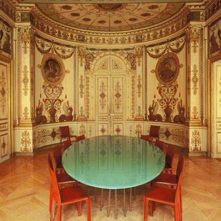 L'hôtel Bony - Salon avec décor de gypseries et de peintures