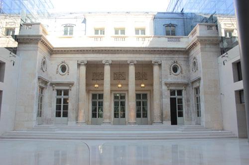 L'hôtel Alexandre ou hôtel Suchet - La façade sur cour surmontée d'une verrière