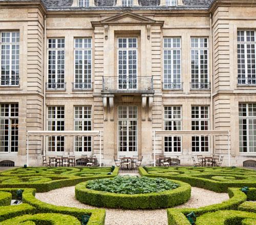 L' Hôtel de Guénégaud : la façade sur le jardin