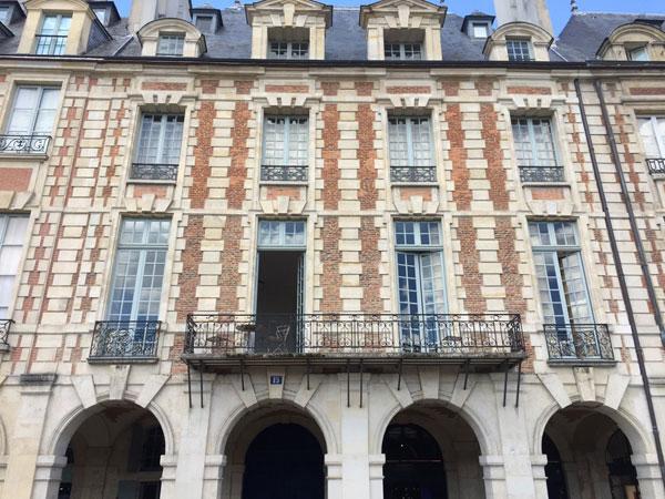 L'hôtel Marchant Place des Vosges