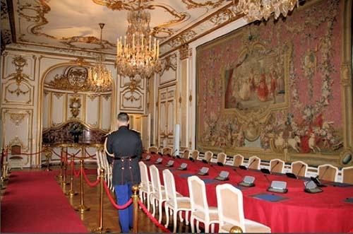 L'hôtel de Matignon - La salle du Conseil