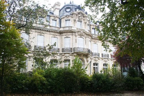 L'hôtel Emile Menier - Façade sur le parc Monceau