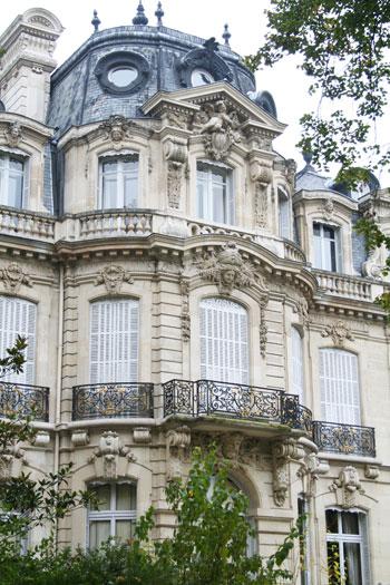 L'hôtel Henri Menier - La rotonde sur le parc Monceau