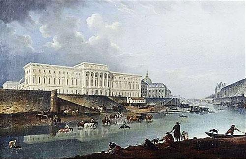 L'Hôtel des Monnaies - peinture ancienne