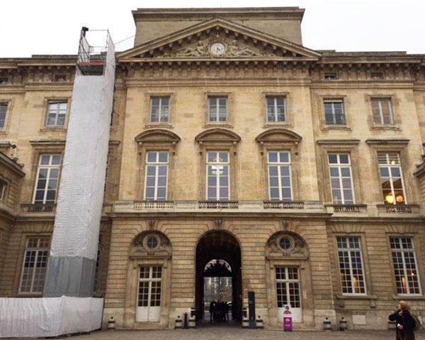 L'Hôtel des Monnaies : la façade sur cour