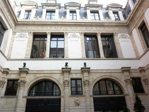 L'hôtel de Pourtalès - La cour intérieure