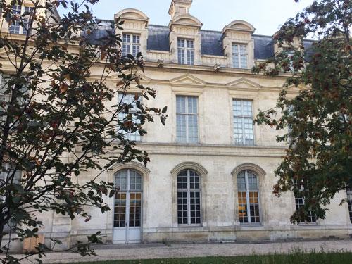 L'Hôtel de Saint-Aignan : la façade sur jardin donne maintenant sur le jardin Anne Frank