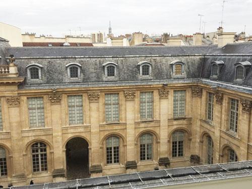 L'Hôtel de Saint-Aignan : vue sur la cour de l'hôtel