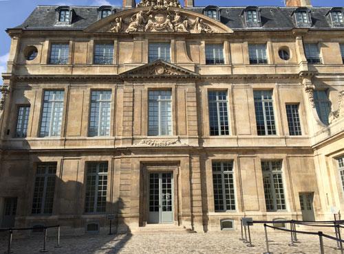 L'hôtel Salé - La façade sur la cour