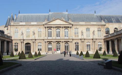 L'hôtel de Soubise - La façade sur cour
