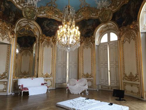 Le salon de la princesse de Soubise est habillé de boiseries Rocaille