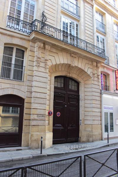 L'hôtel de Villeroy - Façade sur la rue des Bourdonnais