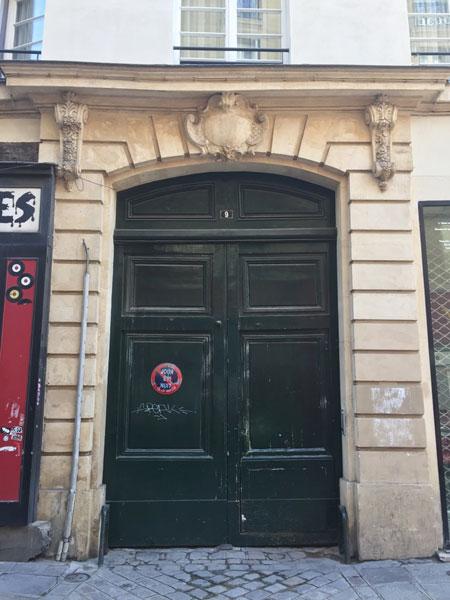 L'hôtel de Neufville de Villeroy : second portail d'entrée sur la rue des Déchargeurs