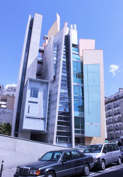 Immeuble d'habitation - Façade rue des Pavillons