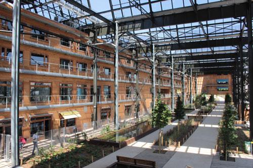 La halle Pajol : le jardin Rosa Luxembourg
