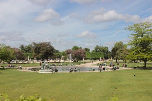 Le jardin des Tuileries
