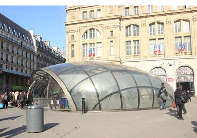 Lentille de la station de métro Saint-Lazare