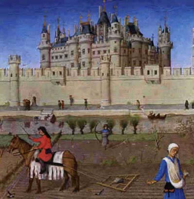 Le palais du Louvre au Moyen-Age
