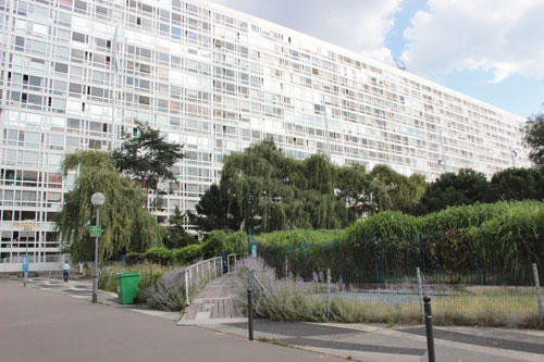 Immeuble Maine-Montparnasse II - Façade sur le jardin atlantique