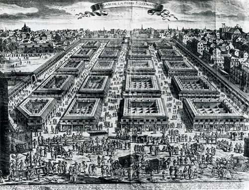 La foire Saint-Germain vers 1670