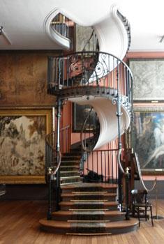 Musée Gustave Moreau : l' escalier