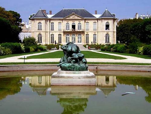 Le musée Rodin : la façade sur le jardin