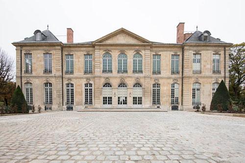 Le musée Rodin : la façade sur la cour d'honneur