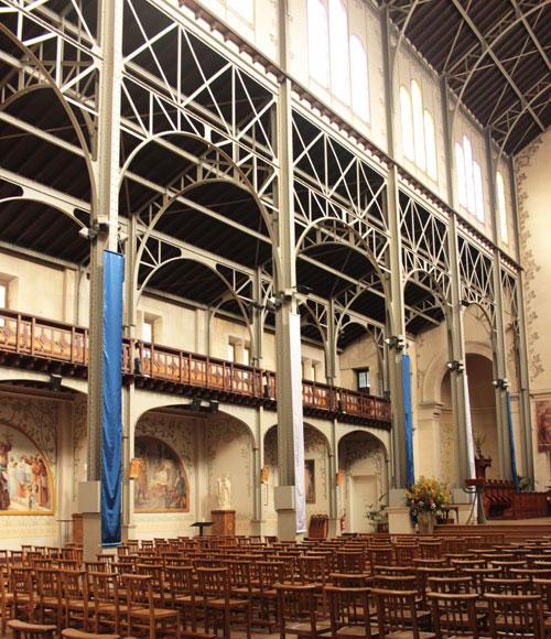 L'église Notre-Dame du Travail - Bas-côté