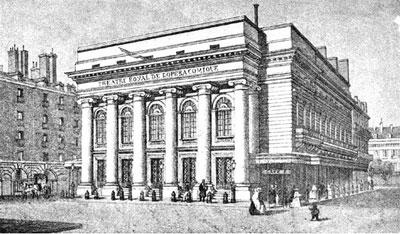 L'opéra Comique - La première salle (détruite)
