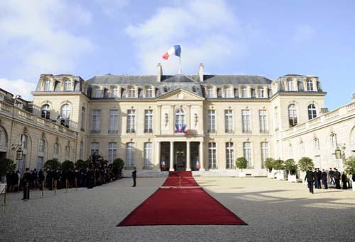 Le palais de l'Elysée - Façade sur cour
