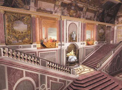 Le Palais Rose : l'escalier d'honneur