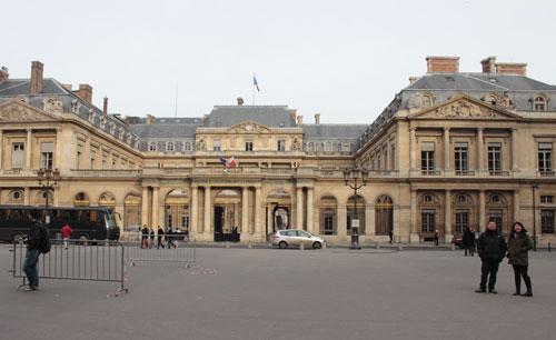Le Palais-Royal - Façade sur la cour de L'Horloge
