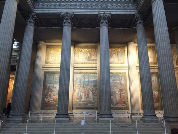 Le Panthéon : décors intérieurs