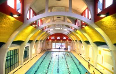 La piscine de la Butte-aux-Cailles - Le bassin intérieur