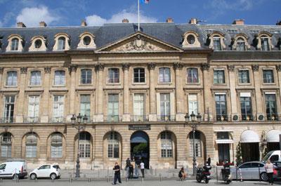 La Place Vendôme - L'hôtel de Bourvallais devenu le Ministère de la Justice