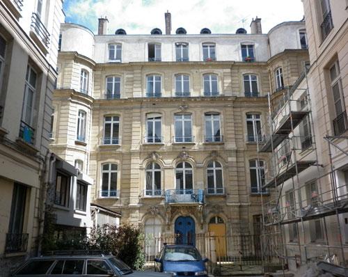 Hôtel des Dames de saint-Chaumond - façade vers la rue Saint-Denis